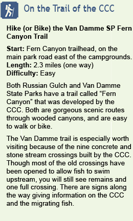 Description of hike at Van Damme State Park
