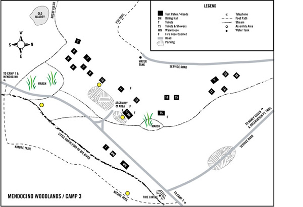 Mendocino Woodlands Camp 3 layout