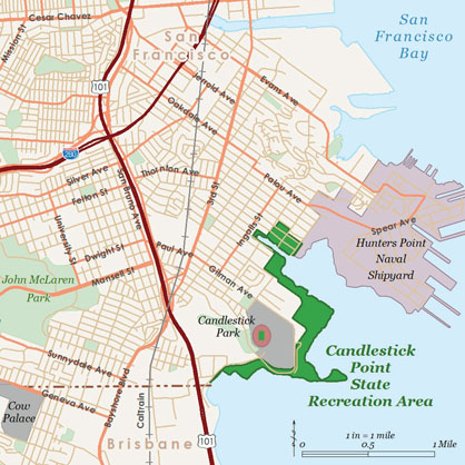Candlestick Point SRA GP map