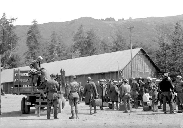 CCC Company 1920V arrives at Camp Tamalpais