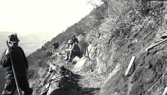 Company 2932V building the Summit Trail, 1938