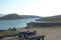 Boat Ramp Area at San Luis Reservoir