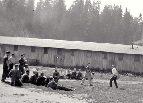 Boxing at the Humboldt Redwoods Dyerville camp
