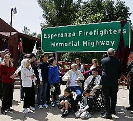 Dedication of Highway 243 for Esperanza Firefighters
