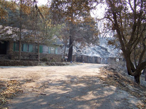 Warden's house and garage after Poomacha fire