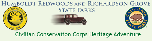 Humboldt Redwoods State Park Civilian Conservation Corps Heritage Adventure banner