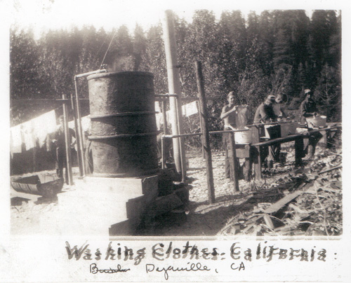 Washing Clothes at Humboldt Redwoods