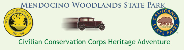 Mendocino Woodlands State Park Civilian Conservation Corps Heritage Adventure banner