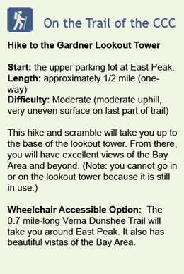 Description of hike to Gardner Lookout Tower on East Peak