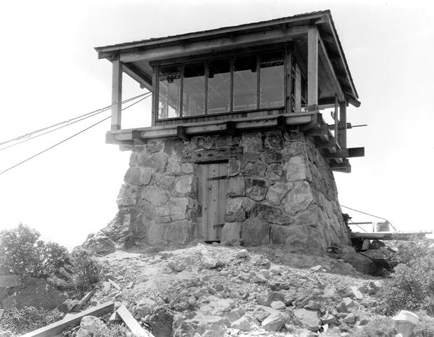 Gardner Fire Lookout, newly finished