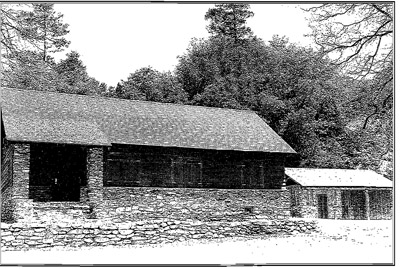Warden's house and garage c. 1936