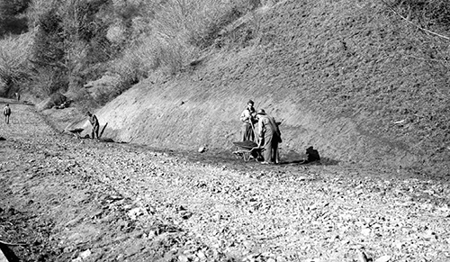 Russian Gulch Road Construction, 1934