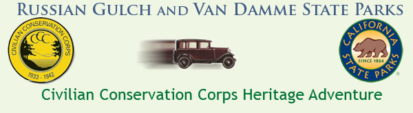 Russian Gulch State Park Civilian Conservation Corps Heritage Adventure Banner