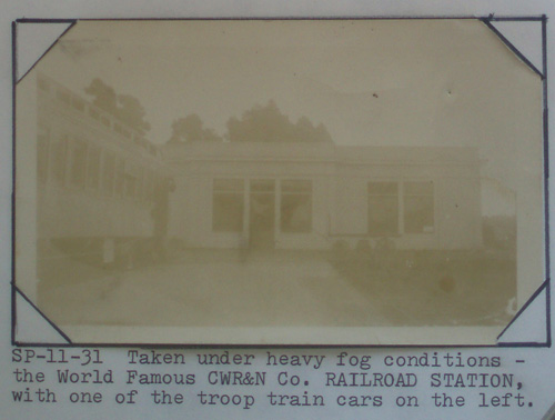 California Western Railroad depot and troop train