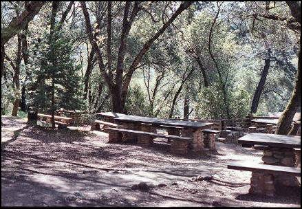 Picnic area located in Marshall Gold Discovery SHP
