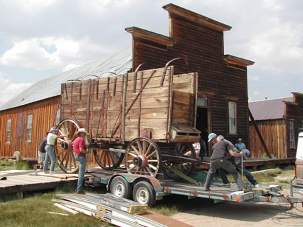 Freight wagon moving to conservation lab