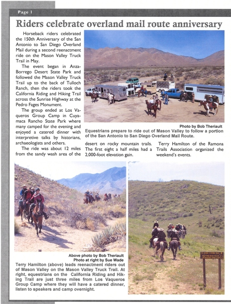 Overland Mail Mason Valley Truck Trail Article