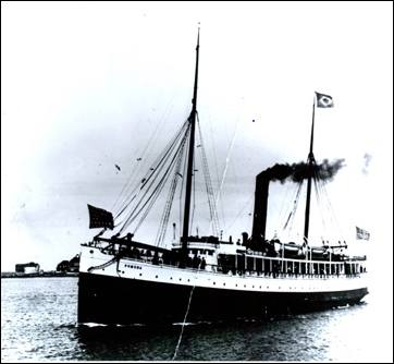 The SS Pomona prior to shipwreck
