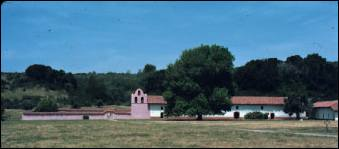 La Purisima Mission church and cemetery
