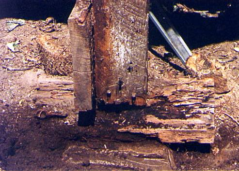 Image of disintegrating posts and piers