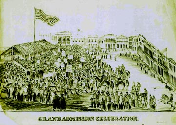September 9, 1850  Grand Admission Day Celebration reproduction from California State Library.