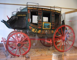 Stagecoach at BF Hastings Building in Sacramento, California