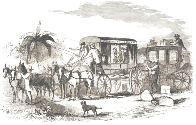 Butterfield Overland Mail vehicle, 1858