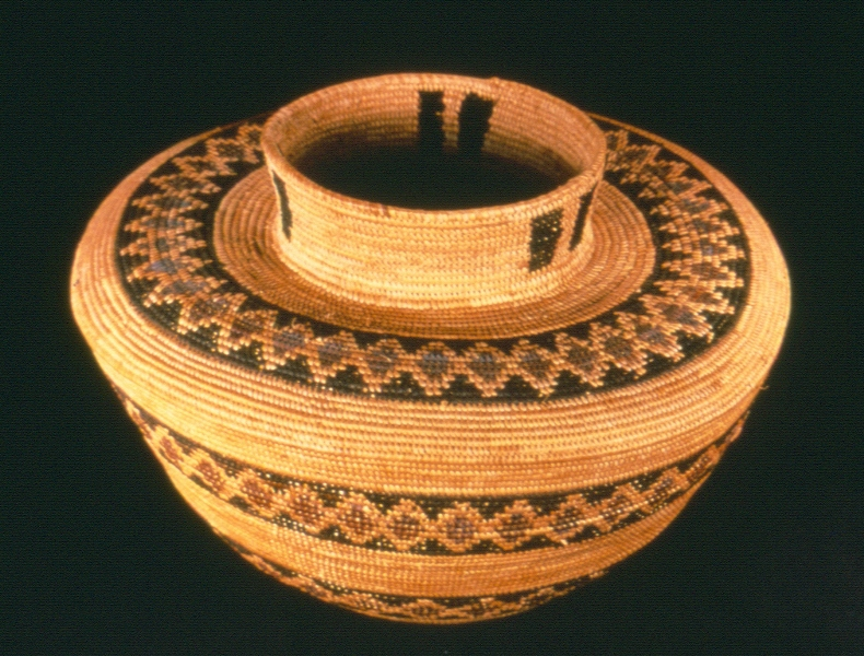 California Indiian Water Basket in the State Indian Museum collection