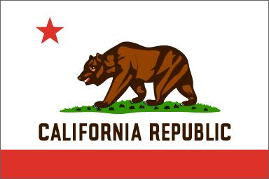 "The current California State Flag, adopted by the state legislature in 1911, is based on the original Bear Flag raised by pioneering Americans over Sonoma in 1846. The Bear was representative of the numerous Grizzly Bears in the state and the words ""California Republic"" testify to the fiesty American pioneers who settled in the territory."
