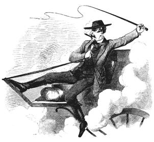 Daredevil Stagecoach Driver, drawing by J. Ross Browne