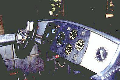The Mercury's instrument panel looked more like an airplane than a boat. It was powered by a  V-12 that produced 625 horsepower.