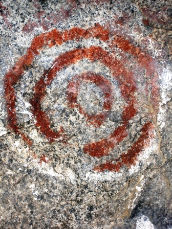 Circles in the Rock Art at Exeter Rocky Hill