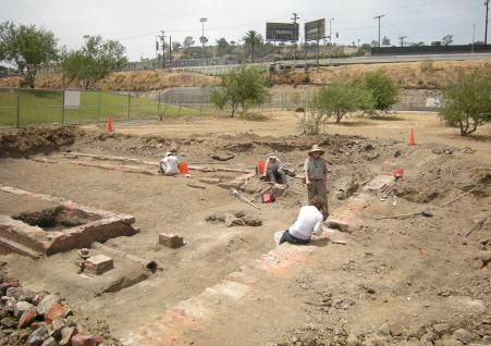 Excavations at Roundhouse site in June 2010.