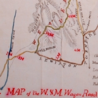 Wagon Road map legend detail