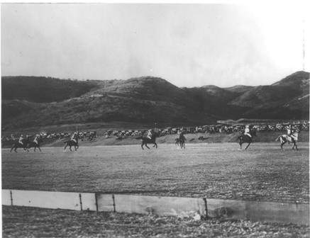 Polo game at Will Rogers Ranch (1920s)