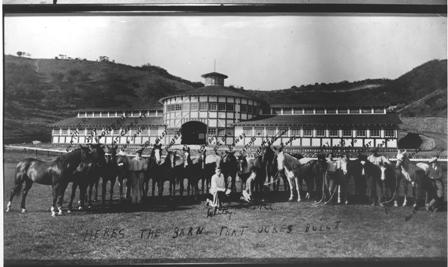 Will Rogers' horses in front of Stable