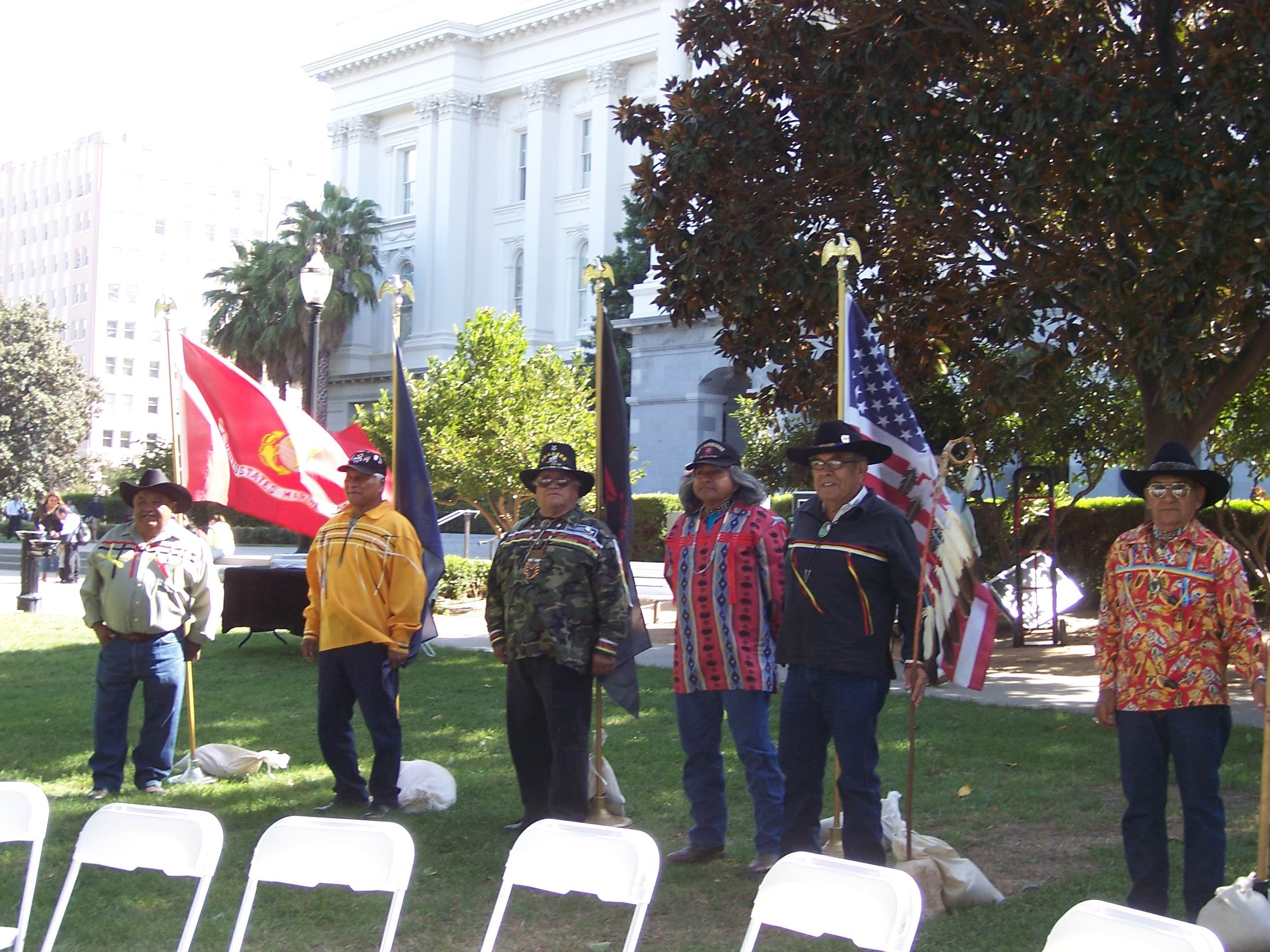 Vietnam Vets from Tule River at Native American Day September 22, 2006 at the California State Capitol. (Photo by Karen Santana)