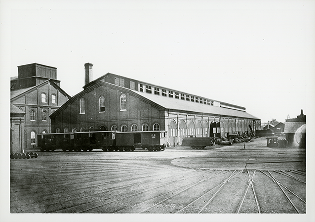 Historic image of the Railyard Shops