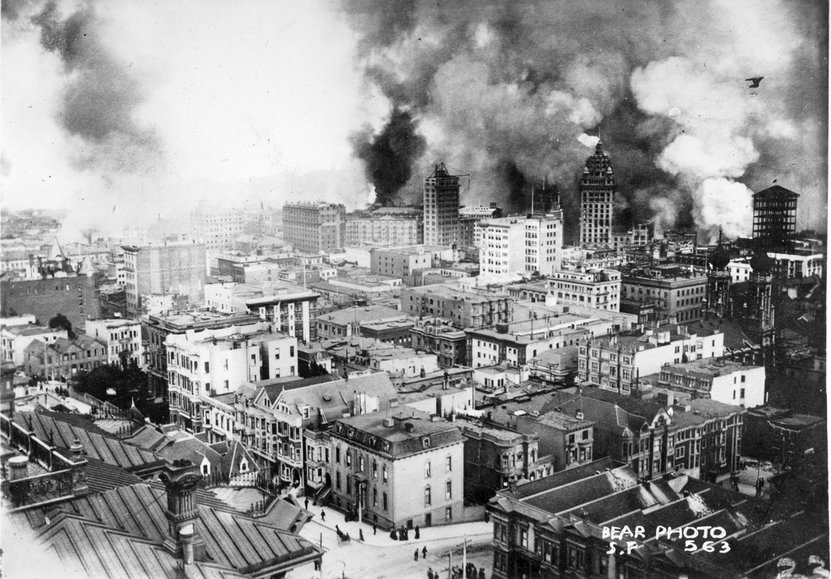San Francisco 1906 Earthquake and Fire: Photo Courtesy of the California History Room, California State Library