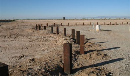 Salton Sea vehicle barrier