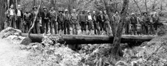 CCC at Mount Tamalpais on double log bridge in 1935