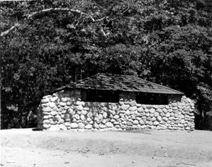 CCC constructed masonry restroom at Pfeiffer Big Sur in 1938