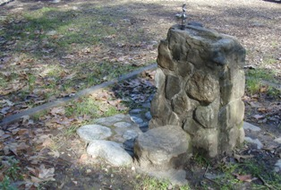 CCC built this water fountain in 1941 at Pfeiffer Big Sur, photo by Matt Bischoff