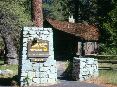CCC built entrance at Mount San Jacinto