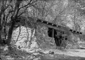 Cuyamaca Rancho stone shelter at Paso Picacho Campgrround in 1936
