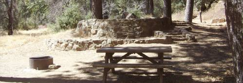 Campsite area at Cuyamaca Rancho State Park.
