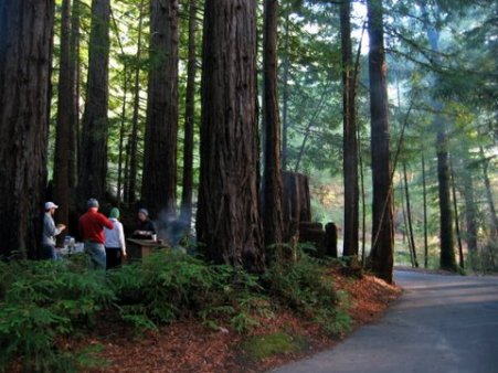 Little Basin is a family campground located within Big Basn Redwoods State Park.