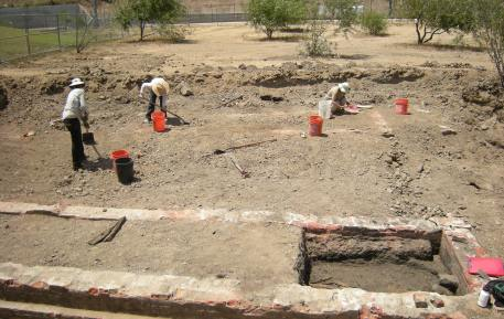 Archaeological excavation at Los Angeles State Historic Park in 2010.