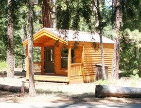 One and two bedroom cabins are available at McArthur-Burnery Memorial Falls State Park