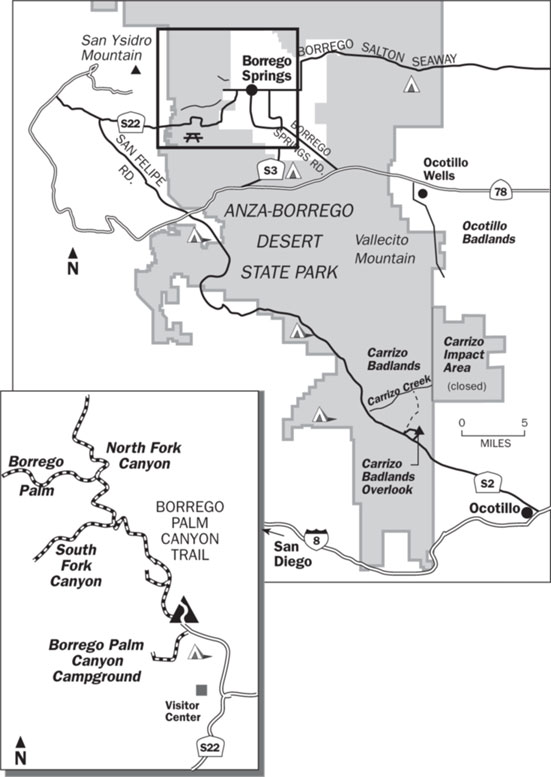 Anza-Borrego State Park Trail Map